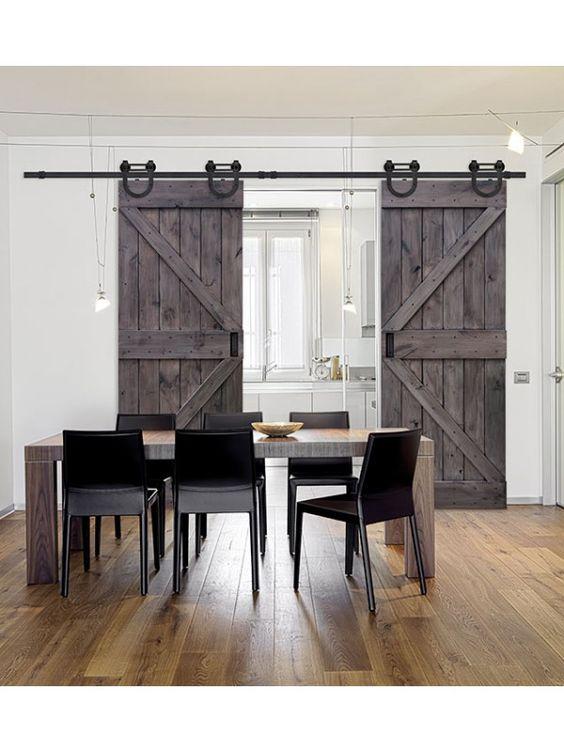 Klasyczne drzwi przesuwne szare