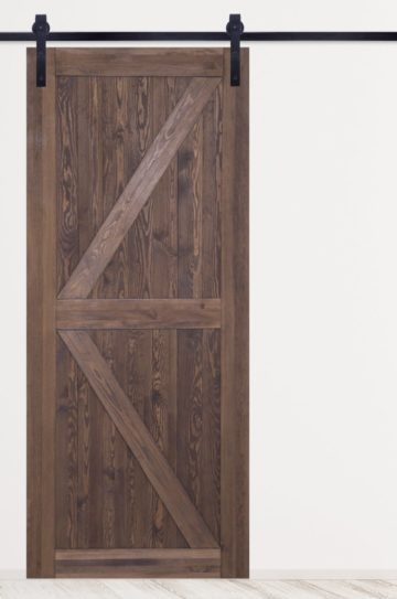 drzwi przesuwne drewniane, barn doors, kolor orzech, system drzwi przesuwnych