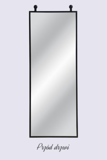 Lustro w metalowej ramie , model LARA