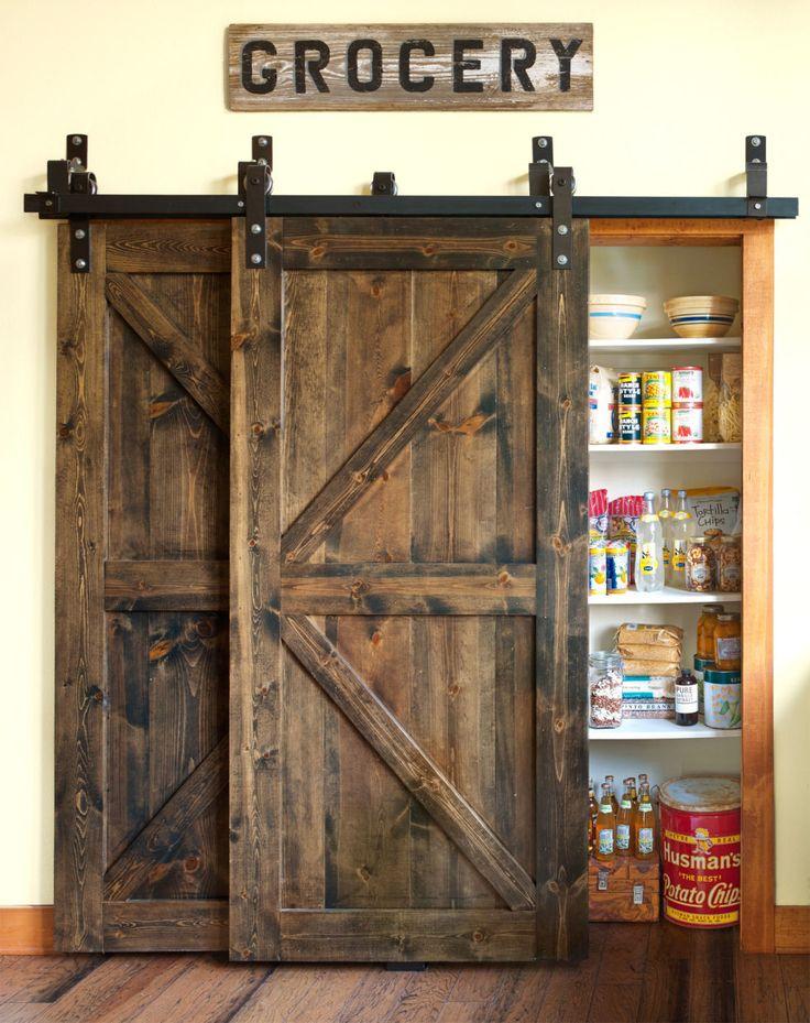 drzwi przesuwne naprzemienne w spiżarni