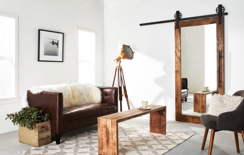 Drzwi przesuwne z lustrem do pokoju to jest pomys for Design spiegels woonkamer