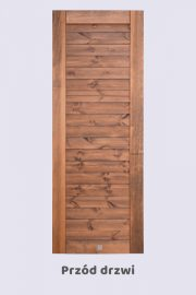 Drewniane drzwi przesuwne, model LINJE