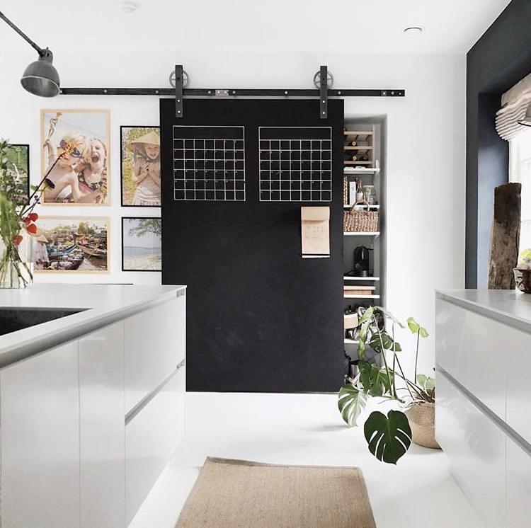 Drzwi przesuwne w kuchni